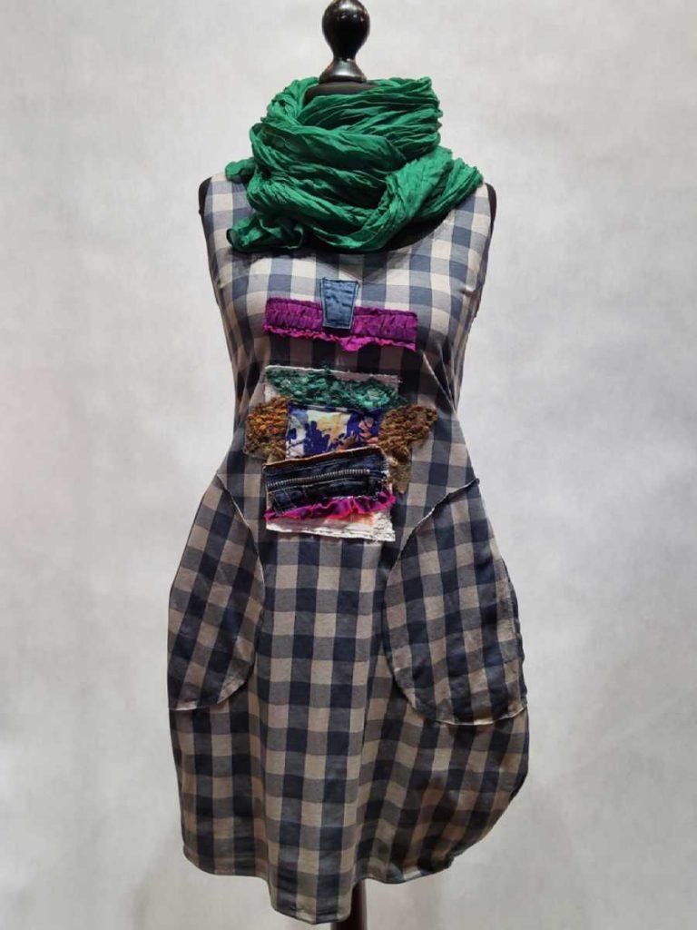 ręcznie szyta sukienka