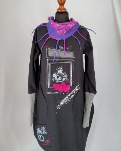 Sukienka madżenta