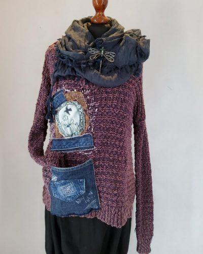Sweter elegancik na spacerze