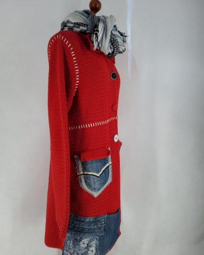 Płaszcz czerwony niekapturek