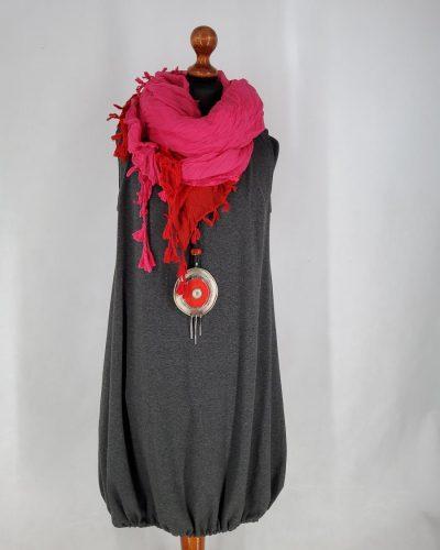 Sukienka bazowa grafit XL