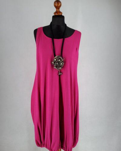 Sukienka madżenta bazowa L
